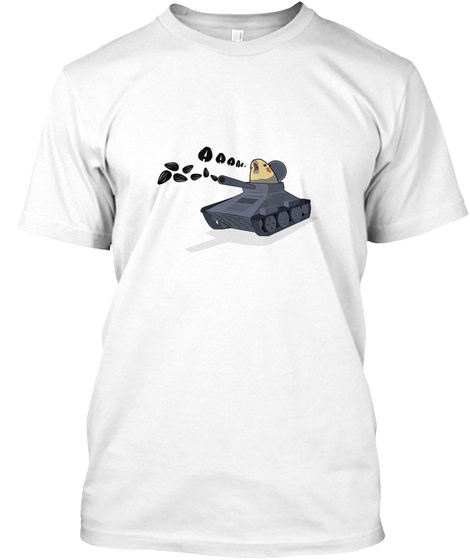 A A A A White T-Shirt Front