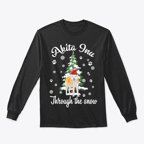 Akita Inu Through The Snow Dogmas Shirt Black T-Shirt Front