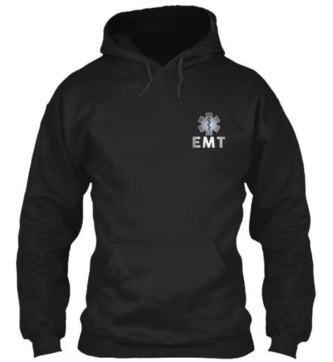 Emt Black T-Shirt Front