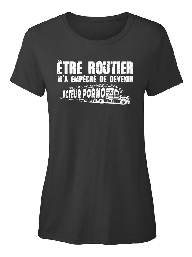 Routier-Acteur-S-T-shirt-Elegant-pour-Femme