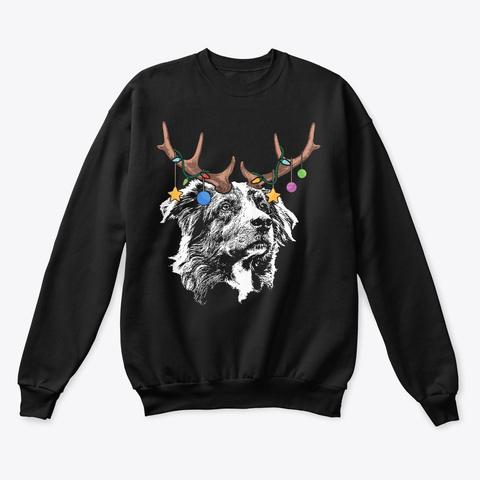 Aussie Christmas Ornaments Black T-Shirt Front