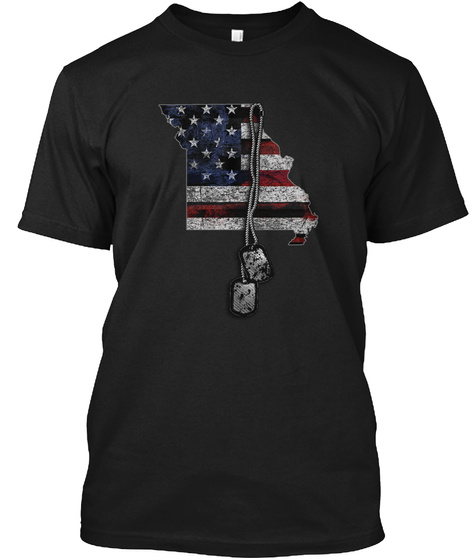 Missouri Honors Veterans Black T-Shirt Front