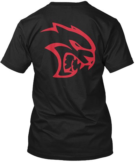 Srt Hellcat  Black T-Shirt Back