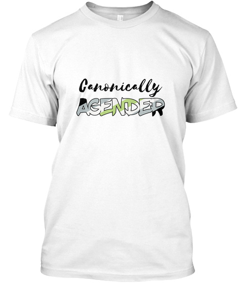 Canonically Agender White T-Shirt Front