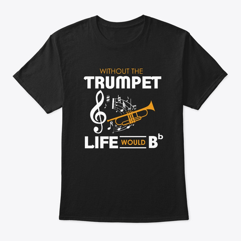Trumpet Shirt Marching Band Black T-Shirt Front