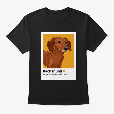 Dachshund Profile Picture Black T-Shirt Front