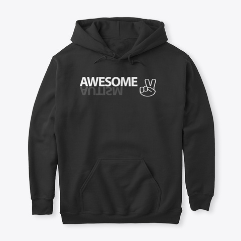 The Aspie World Keep Being Awesome Hood Black T-Shirt Front