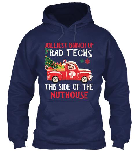 Jolliest Bunch Of Rad Techs Navy T-Shirt Front
