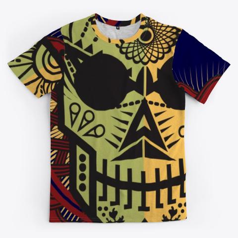 Dia De Los Muertos Dark Navy T-Shirt Front