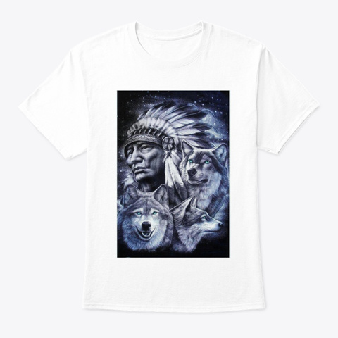 Native American White T-Shirt Front