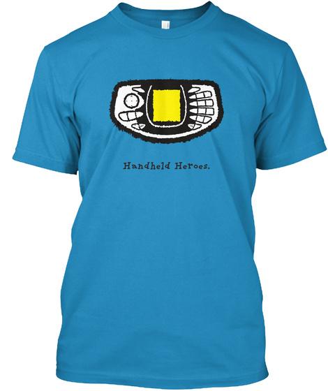 N Gage   Handheld Heroes (Uk/Eu) Sapphire T-Shirt Front