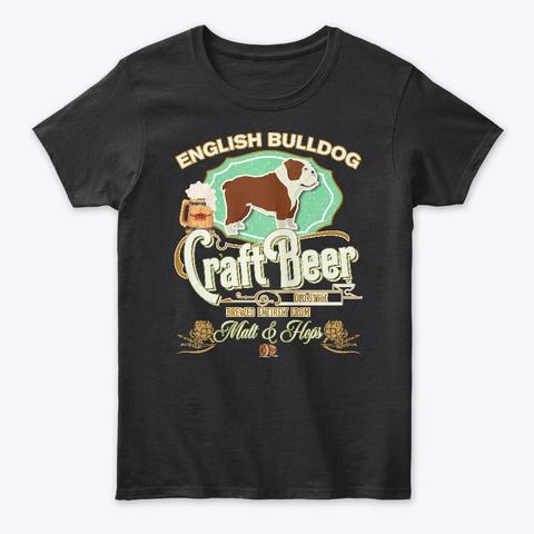 English Bulldog Gifts Black T-Shirt Front
