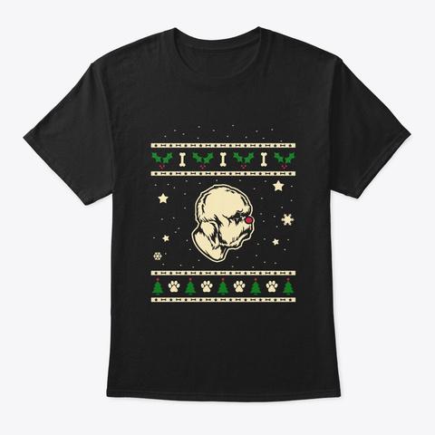 Christmas Dandie Dinmont Terrier Gift Black T-Shirt Front