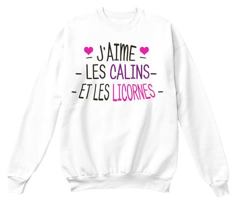 Hoodie   Calins Et Licornes White T-Shirt Front