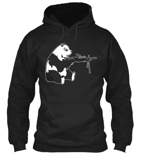 Machine Gun Panda Black Sweatshirt Front