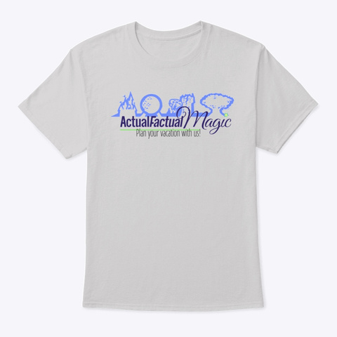 Actual Factual Magic Light Steel T-Shirt Front