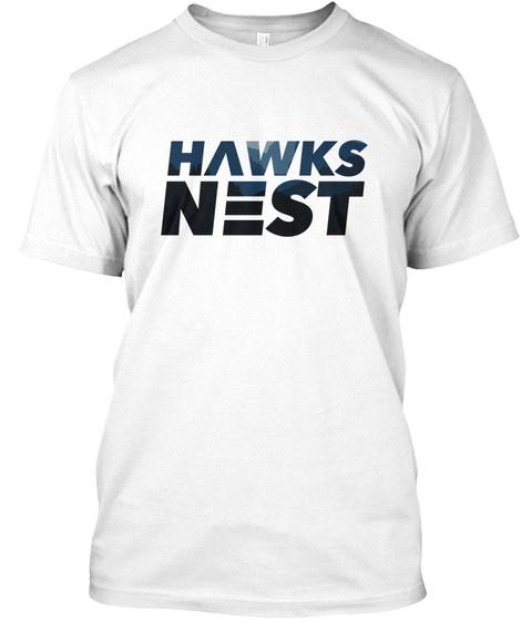 Hawks Nest White T-Shirt Front