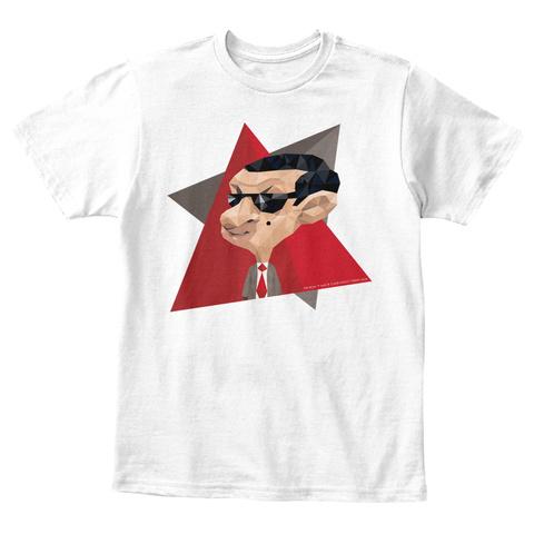 Mr Bean Animation White T-Shirt Front
