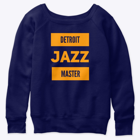 Detroit Jazz Master Navy  T-Shirt Front