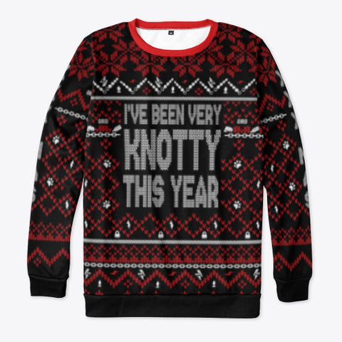 I've Been Very Knotty This Year Black T-Shirt Front