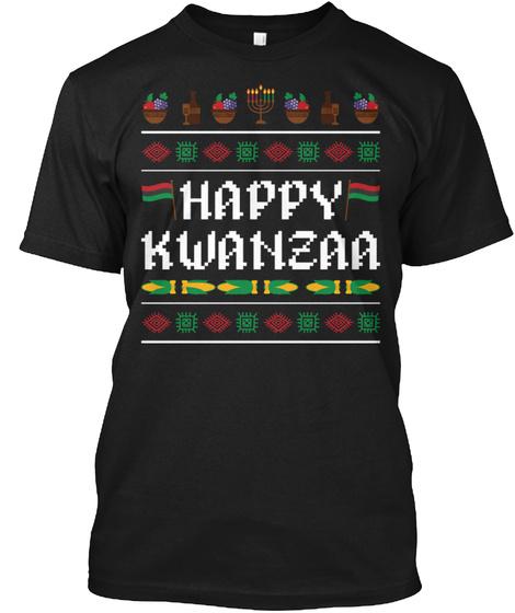 Kwanzaa Christmas African Holiday Harves Black T-Shirt Front