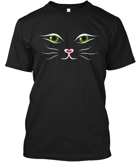 Kitty Face Shirt Black  Limited Edition Black T-Shirt Front