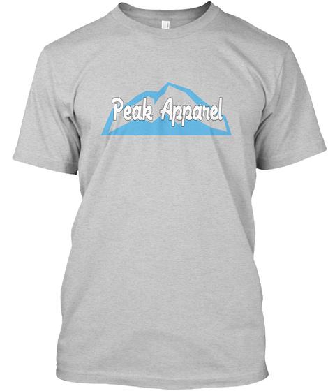 Peak Apparel Light Steel Kaos Front
