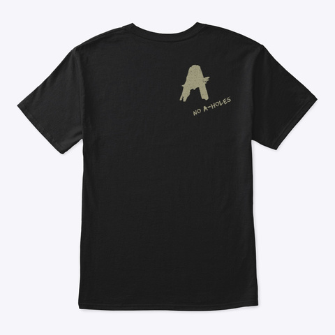 America With No A Holes™  Dstressed (Mp) Black áo T-Shirt Back