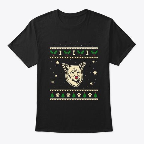 Christmas Jamthund Gift Black T-Shirt Front