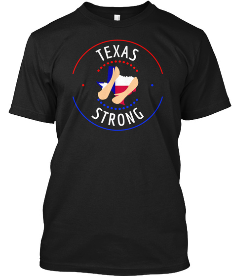 Hurricane Harvey Texas Strong Donation  Black T-Shirt Front