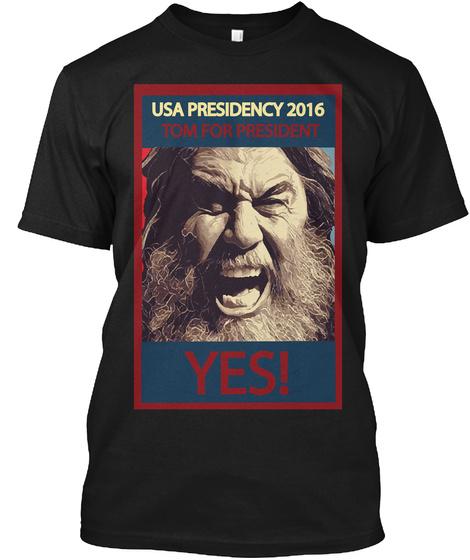 Legendary Thrash Metal Music President Black T-Shirt Front