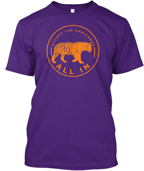 All In College Football Purple T-Shirt Front