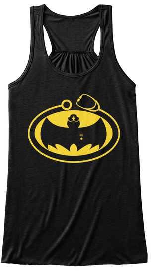 The Bat Nurse Arises Black T-Shirt Front