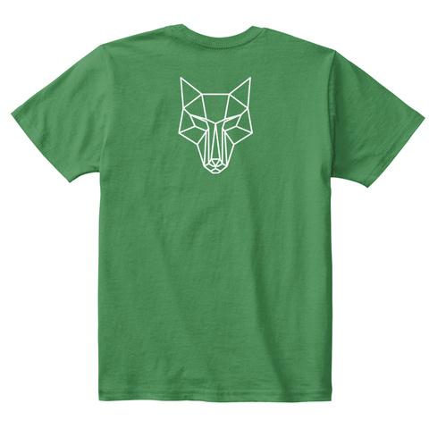 Lupus Warrior Cub Kelly Green  T-Shirt Back