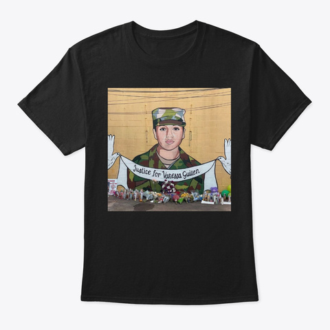 Justice For Vanessa Guillen T Shirt Black T-Shirt Front