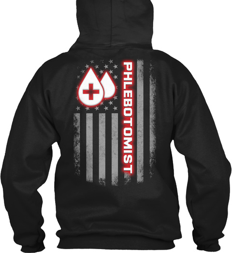 Phlebotomist Hoodie Christmas Special Black T-Shirt Back