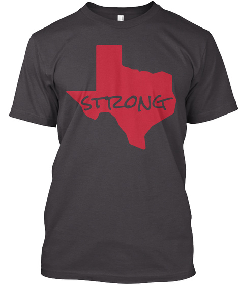 Strong Loveofdixie Heathered Charcoal  T-Shirt Front