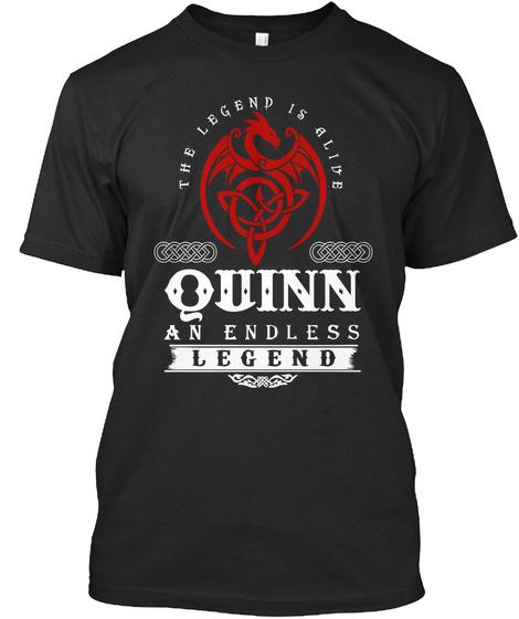 The Legend Is Alive Quinn An Endless Legend Black T-Shirt Front