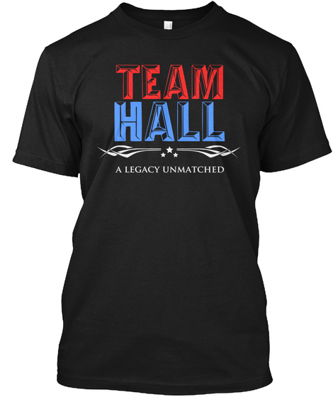 Team Hall A Legacy Unmatched Black T-Shirt Front