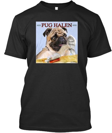 Pug Halen Black T-Shirt Front