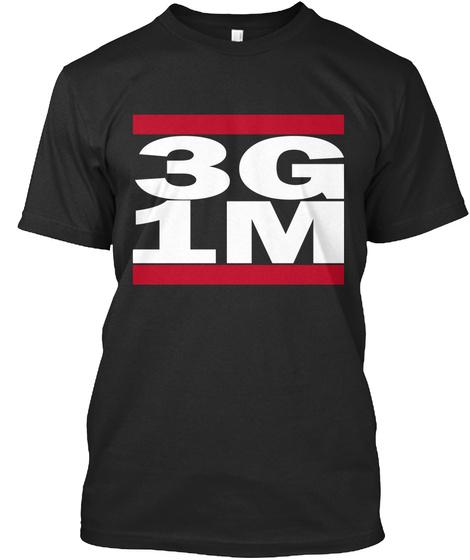 3 G 1 M Black T-Shirt Front