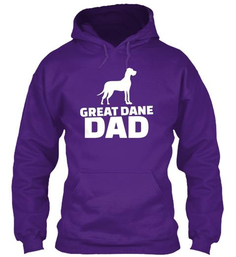 Great Dane Dad Purple T-Shirt Front