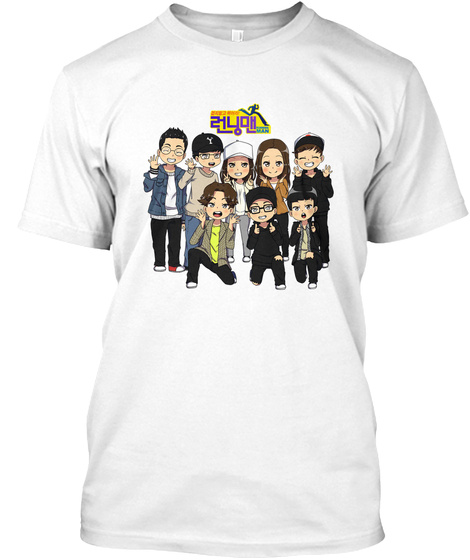 Running Man White T-Shirt Front