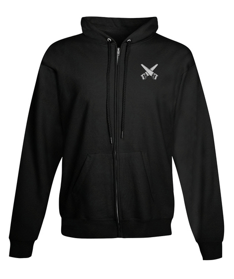 Proud Carpenter Zipper Hoodie Black T-Shirt Front