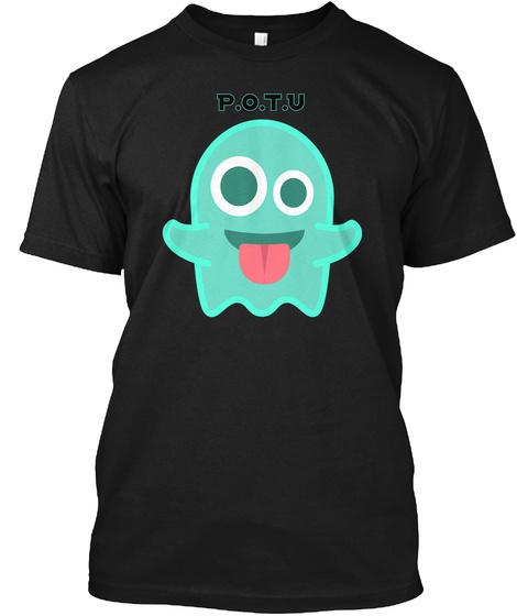 P.O.T.U Black T-Shirt Front