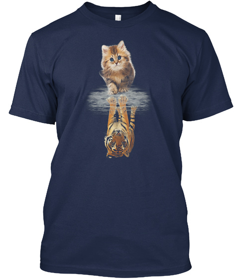 Cat &Amp; Tiger   Be Confident Navy T-Shirt Front