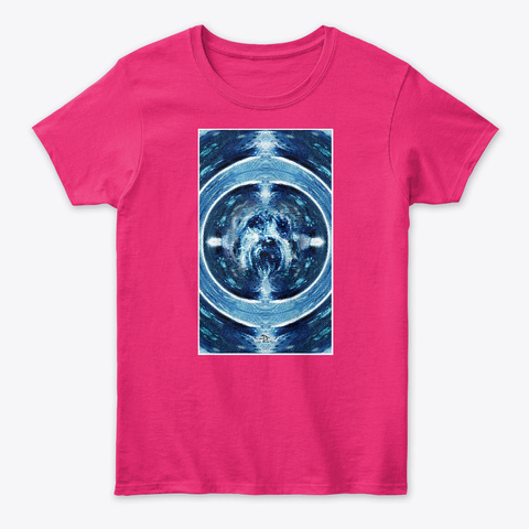 Devin Little Frosty Dog Wreath Heliconia T-Shirt Front