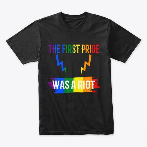 Pride Parade Shirt Nyc 50th Anniversary Black T-Shirt Front