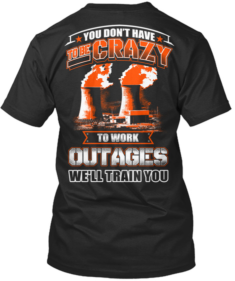 Limited Edition Outage T Shirt  Black T-Shirt Back