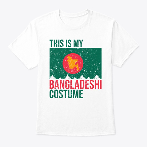 This Is My Bahraini Flag Halloween Shirt White T-Shirt Front